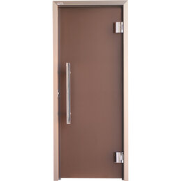 Двери - Grandis Дверь стеклянная Grandis GS 680х1990 коробка алюминий Anodize Brasch,..., 0