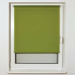 Римские и рулонные шторы - Штора рулонная BRABIX 80х175 см, текстура - лён,…, 0