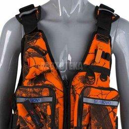Одежда - Жилет страховочный Seanovo (Сианово) SJ28, универсальный, накладные карманы, ор, 0