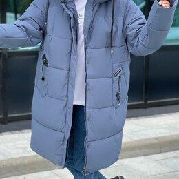 Куртки - Женская динная зимняя куртка большого размера р-ры 56-70, 0