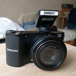 Фотоаппараты - Фотокамера SAMSUNG NX210 с объективом, 0