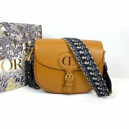 Сумки - Женская сумка Christian Dior Bobby кросс боди рыжая кожа премиум новая, 0
