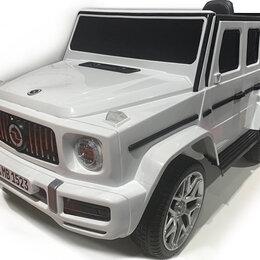 Электромобили - Детский электромобиль Mercedes-Benz G63 4х4 mini (V8) YEH1523 белый, 0