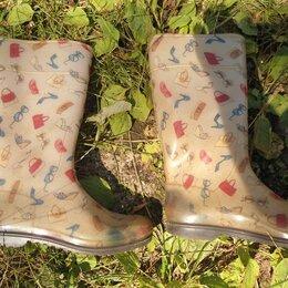 Резиновые сапоги и калоши - женские резиновые сапоги 38 р, 0