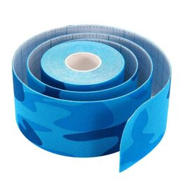 Дезинфицирующие средства - Кинезио тейп для лица Ayoume Kinesiology Tape Roll 2,5см*5м — синий камуфляж, 0