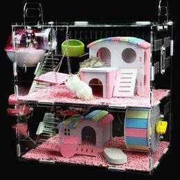 Клетки и домики  - Клетка-домик для хомяка, с наполнением 2 этажа, 0