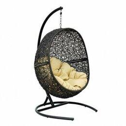 Плетеная мебель - Мебель ротанговая Кресло подвесное Lunar Black, 0