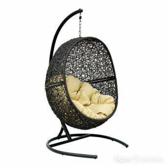 Мебель ротанговая Кресло подвесное Lunar Black по цене 22250₽ - Плетеная мебель, фото 0