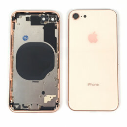Корпусные детали - Корпус для Apple iPhone 8 золотой,оригинал, 0