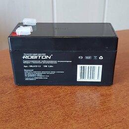 Аккумуляторные батареи - Аккумулятор ROBITON 12В 1,3Ач свинцово-кислотный , 0