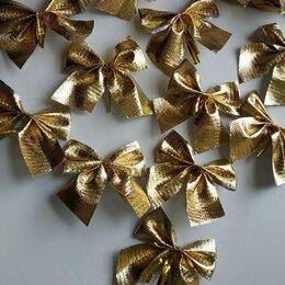 Новогодний декор и аксессуары - Золотистые бантики на ёлку, 0