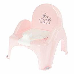 Аквариумные рыбки - Горшок-стульчик КРОЛИКИ антискользящий музыкальный (розовый), 0