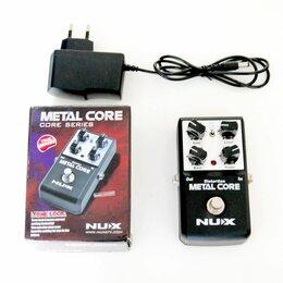 Процессоры и педали эффектов - NUX Metal Core гитарная педаль + б/п, 0