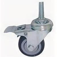 Сопутствующие товары - Колесо  резина болтовое крепление (М10) с тормозом 50мм Торговое оборудование, 0