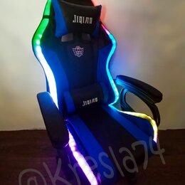 Компьютерные кресла - Игровое кресло с вибромассажем и RGB подсветкой, 0