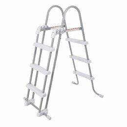 Лестницы и поручни - Лестница со съемными ступеньками для бассейнов высотой 91-107 см 28075 INTEX, 0