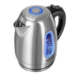 Электрочайники и термопоты - Чайник электрический Redmond RK-M183, 1,7л, 2200Вт, с подсветкой, нержавеющая..., 0