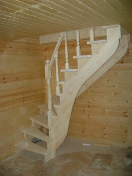 Лестницы и элементы лестниц - Лестницы из дерева, 0