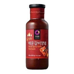 Продукты - Соус-маринад острый Кальби для мяса Daesang, 500 г, 0