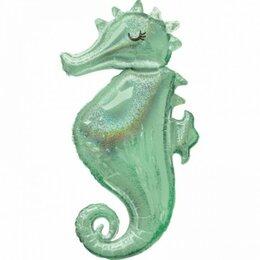 Статуэтки и фигурки - Шар фигура Конек морской голография, 0