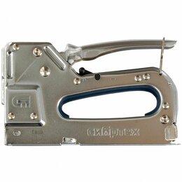 Гвоздескобозабивные пистолеты и степлеры - Степлер мебельный, металлический, регулируемый,…, 0