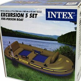 Надувные, разборные и гребные суда - Надувная пятиместная лодка EXCURSION 5 SET, 0
