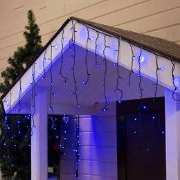 """Украшения для организации праздников - LED гирлянда """"Бахрома"""" уличная, 3 х 0.6 м, Каучук, Синий, 0"""