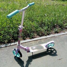 Самокаты - Детский городской самокат для девочки, бесшумный, 0