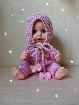 Головные уборы - Вязаный детский чепчик (ручной работы) , 0