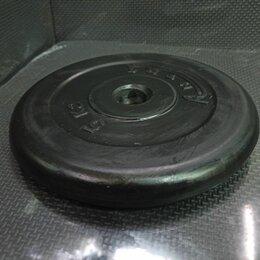 Аксессуары для силовых тренировок - Блин железо в резине 5кг 26мм, 0