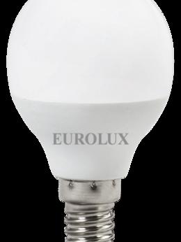 Лампочки - Лампа св/д Eurolux 7Вт,нейтр.,Е14 шар, 0