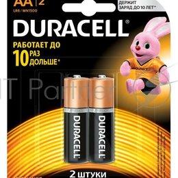 Батарейки - Батарея Duracell Basic Cn Lr6 2bl Mn1500 Aa  2шт, 0