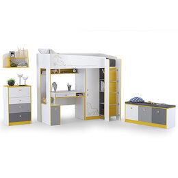Кроватки - Мебель для детской с кроватью-чердаком со столом…, 0