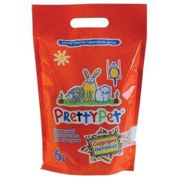 Сено и наполнители - Pretty Pet с Морковными Чипсами 6 л Древесный наполнитель для грызунов и птиц, 0