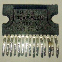 Радиодетали и электронные компоненты - Микросхема TDA7496SA УМЗЧ 5+5W 4Ω 10…32V, Clipwatt15, STMicroelectronics, 0