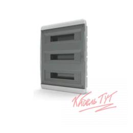 Электрические щиты и комплектующие - Бокс ЩРВ-П 54 IP41 прозрачная черная дверца Tekfor, 0