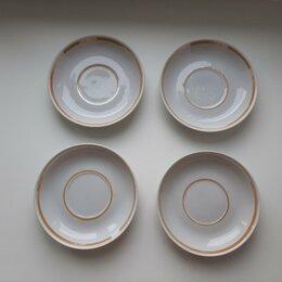 Кружки, блюдца и пары - Блюдца, новые (4 шт.), 0