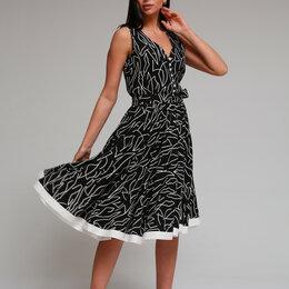 Платья - Платье 2094 YOUR SIZE черное с белым Модель: 2094, 0
