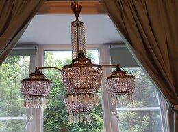 Люстры и потолочные светильники - Продаю чешскую хрустальную люстру на 5 лампочек, 0