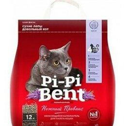 Сено и наполнители - Pi-pi Bent Нежный прованс комк.наполнит.впитыв. до 12л крафт пакет, 0
