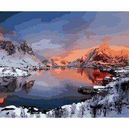 Рукоделие, поделки и товары для них - Картина по номерам Зимний пейзаж Норвегии (GX…, 0
