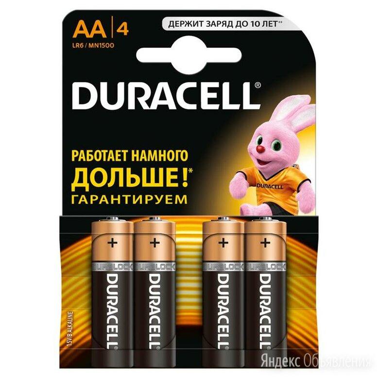 Батарейки пальчиковые duracell 4шт по цене 380₽ - Батарейки, фото 0