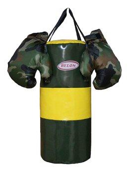 Тренировочные снаряды - Набор для бокса ВОЕНЫЙ: груша цилиндр 60 см х…, 0