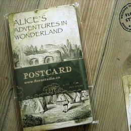 Конверты и почтовые карточки - Набор почтовых карточек Алиса в стране чудес, 0