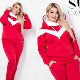 Спортивные костюмы - Теплый спортивный костюм женский большого размера р-ры 52-64, 0