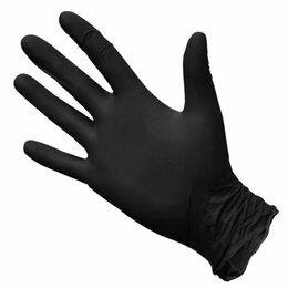 Маникюрные и педикюрные принадлежности - Перчатки 1 пара нитрил. черные L, 0