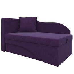 Диваны и кушетки - Кушетка Гармония велюр цвет фиолетовый, 0