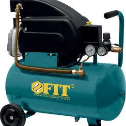 Воздушные компрессоры - Компрессор Воздушный FIT 1500Вт 24л, 0