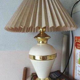 Настольные лампы и светильники - Абажур гармошкой основание золото настольная лампа, 0
