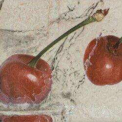 Плитка из керамогранита - Керамическая плитка Bela Vista Декор Biselado Decor Cherry 10x20, 0